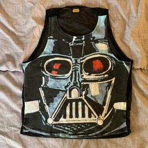 WeLoveFine Darth Vader mesh-back crop top